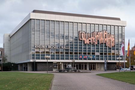 Fassade der Rhein-Mosel-Halle